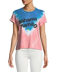 Wildfox Couture Bahama Mama Graphic Tie Dye Tee Multi