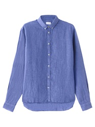 Jigsaw Slim Fit Linen Shirt Cornflower