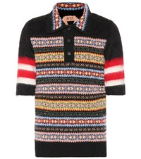 N 21 Wool And Mohair Blend Polo Shirt Multicoloured