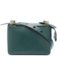 Sophie Hulme Boxy Top Zip Satchel Green