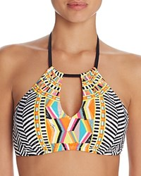 Trina Turk Brasilia High Neck Halter Bikini Top Multi