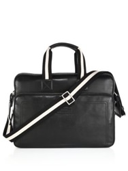 Bally Thoron Leather Business Bag Black White