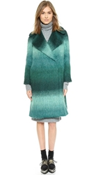 Whistles Kimiyo Degrade Swing Coat Green