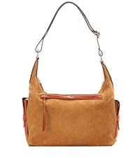 Isabel Marant Corte Day Suede And Leather Shoulder Bag Brown