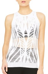 Alo Yoga Women's 'Vixen' Cutout Tank White
