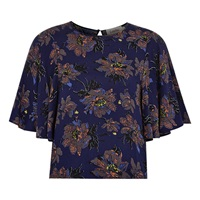 Louche Kress Flower Top Navy