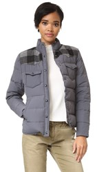 Penfield Rockford Plaid Yoke Down Jacket Grey