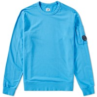C.P. Company Arm Lens Crew Sweat Blue