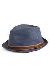 Goorin Bros. Men's Relax Straw Fedora Blue Navy