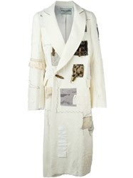 Heikki Salonen Fully Patched Long Coat White