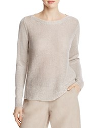 Eileen Fisher Bateau Neck Open Weave Sweater Natural