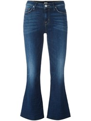 Hudson Mia Cropped Flared Jeans Blue