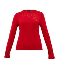 Ted Baker Iarni Heart Cut Out Cashmere Blend Jumper Red
