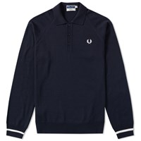 Fred Perry Reissues Tipped Cuff Knit Polo Blue
