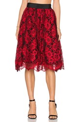 Alexis Lorelei Flare Skirt Red