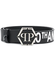 Philipp Plein 20Th Anniversary Logo Belt Black