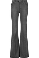 Current Elliott The Girl Crush Mid Rise Flared Jeans Anthracite