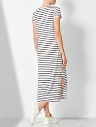 John Lewis Collection Weekend By Jersey Short Sleeve Column Dress White Black