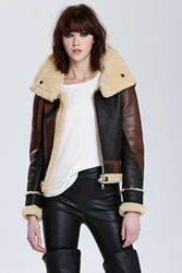 Nasty Gal Vintage Balenciaga Palma Leather Aviator Jacket