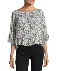 Sanctuary Julia Off The Shoulder Floral Print Top Multi Pattern