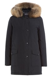 Woolrich Arctic Parka With Fur Trimmed Hood Blue