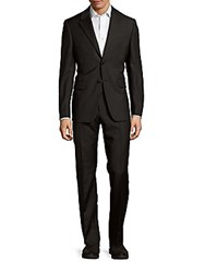 Valentino Classic Fit Pinstripe Wool Suit Black