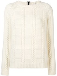 Red Valentino Crew Neck Knit Sweater Nude And Neutrals
