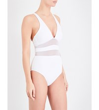 Jets By Jessika Allen Aspire Crossover Halterneck Swimsuit White
