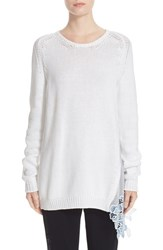 N21 Women's N 21 Lace Inset Knit Pullover