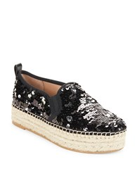 Sam Edelman Carrin Sequined Platform Slip Ons Black