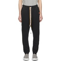 Miharayasuhiro Black Damaged Lounge Pants