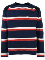 Sacai Striped Jumper Blue