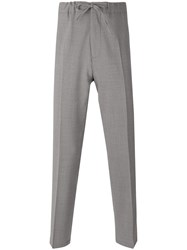 Closed Straight Cut Trousers Men Polyester Spandex Elastane Virgin Wool 34 Grey