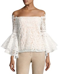 Alexis Thea Off The Shoulder Lace Top White