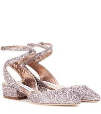 Jimmy Choo Glitter Pumps Metallic