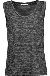 Rebecca Minkoff Connie Cotton Blend Jersey Top Charcoal