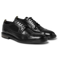 Officine Creative Cornell Polished Leather Wingtip Brogues Black
