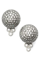 Women's Freida Rothman 'Quintessential' Pave Ball Stud Earrings