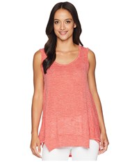 Nally And Millie Panel Seam Piped Stripe Tank Poppy Red Sleeveless