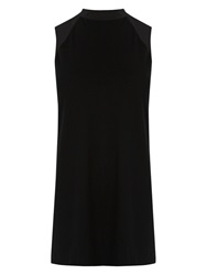 Oasis High Neck Panel Tunic Top Black