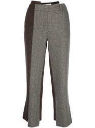 Monse Deconstructed Slim Fit Trousers Grey