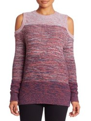 Rebecca Minkoff Page Wool Blend Cold Shoulder Sweater Ombre Space Dye