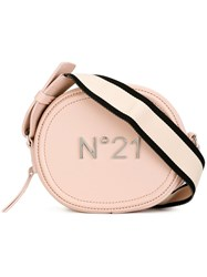 N 21 No21 Logo Plaque Cross Body Bag Pink Purple