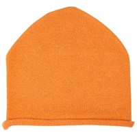 John Lewis Cashmere Roll Beanie Hat Orange