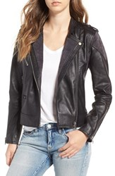 Blank Nyc Women's Blanknyc Genuine Leather And Suede Moto Jacket