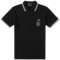 Fred Perry X Art Comes First Printed Twin Tipped Polo Black