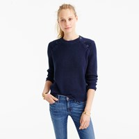J.Crew Textured Cotton Sweater With Anchor Buttons