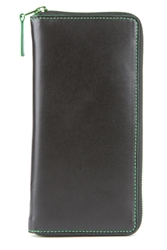 Comme Des Garcons Marvellous Long Zip Around Wallet Green