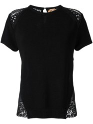 N 21 No21 Lace Detailing Knitted T Shirt Black