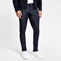 River Island Dark Blue Dylan Slim Fit Jeans